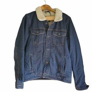 Abercrombie & Fitch men's jean sherpa lined jacket